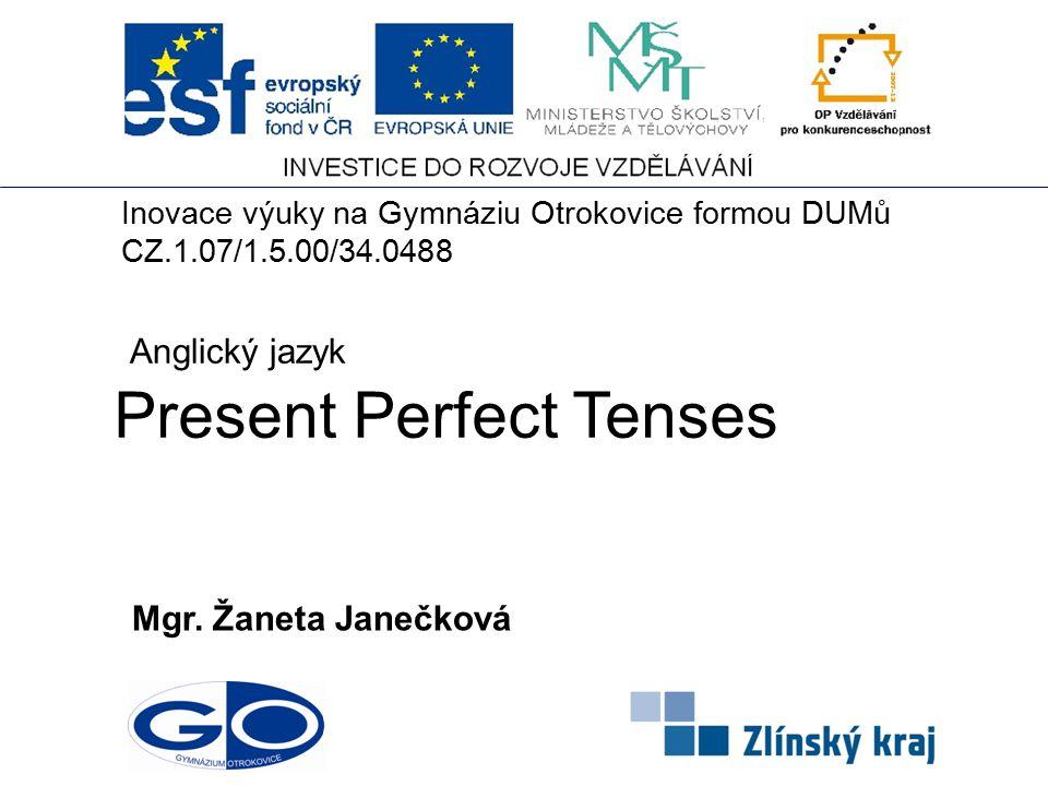 Present Perfect Tenses Mgr.