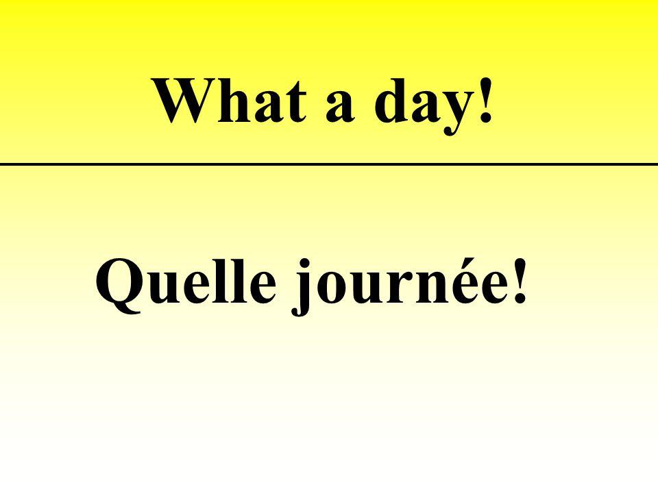 Quelle journée! What a day!