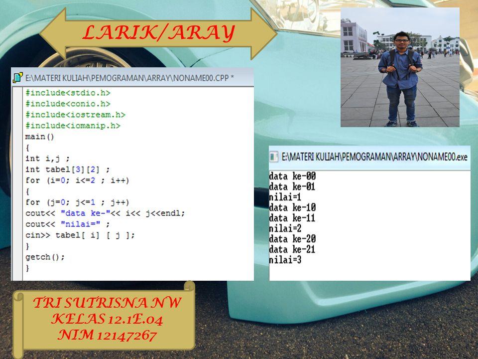LARIK/ARAY TRI SUTRISNA NW KELAS 12.1E.04 NIM 12147267
