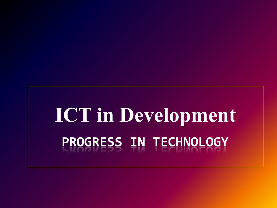 ICT in Development