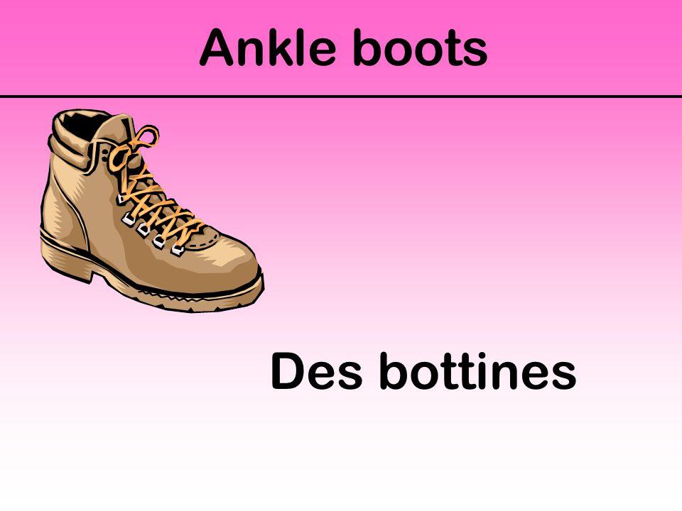 Ankle boots Des bottines