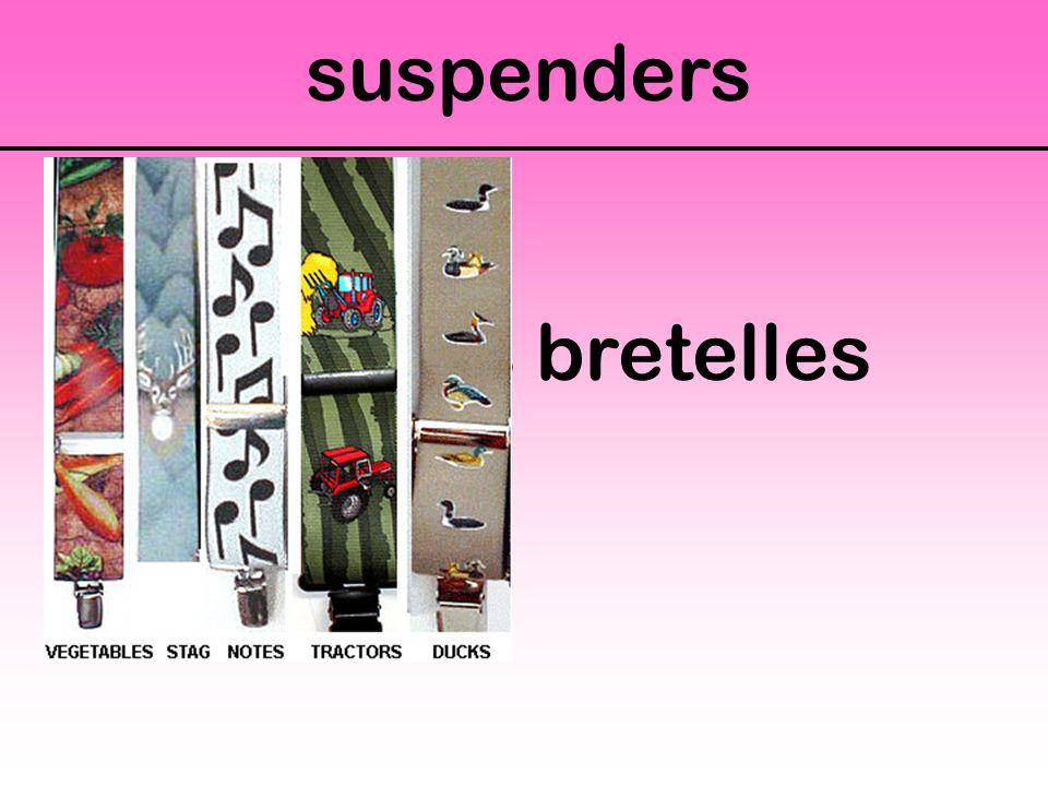 suspenders Des bretelles