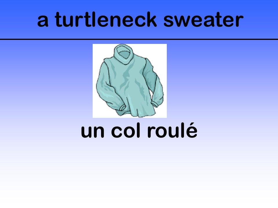 a turtleneck sweater un col roulé