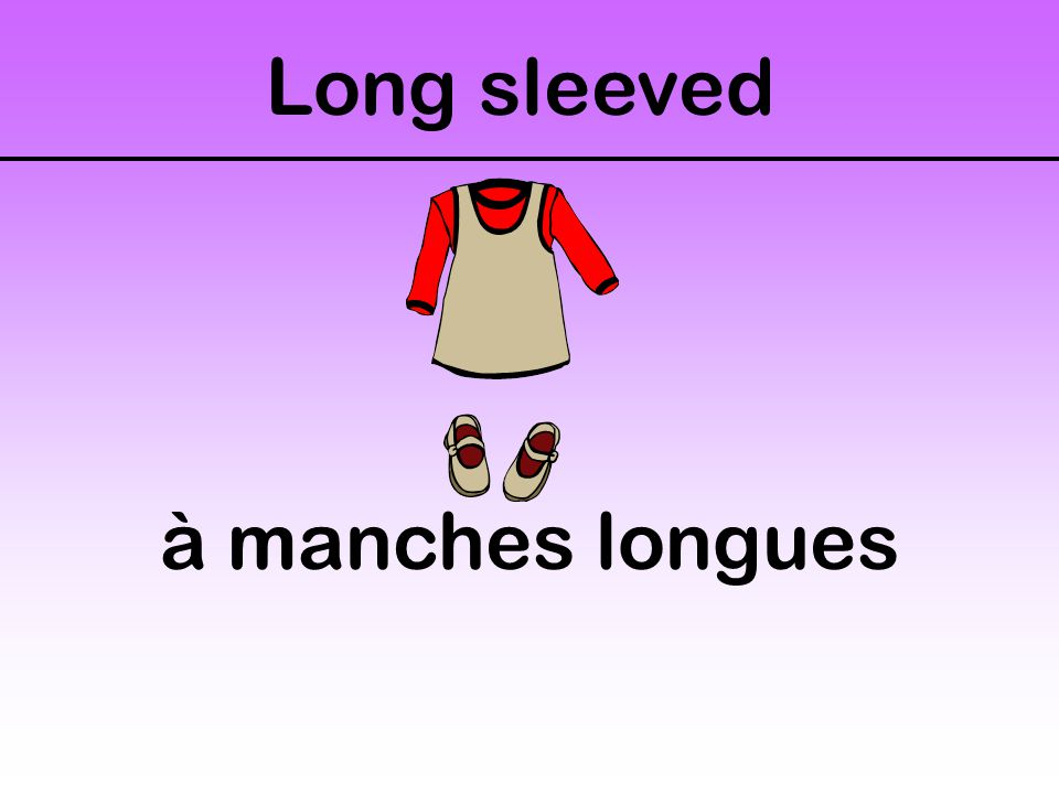 Long sleeved à manches longues