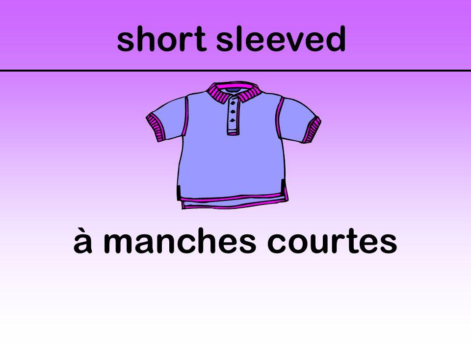 short sleeved à manches courtes