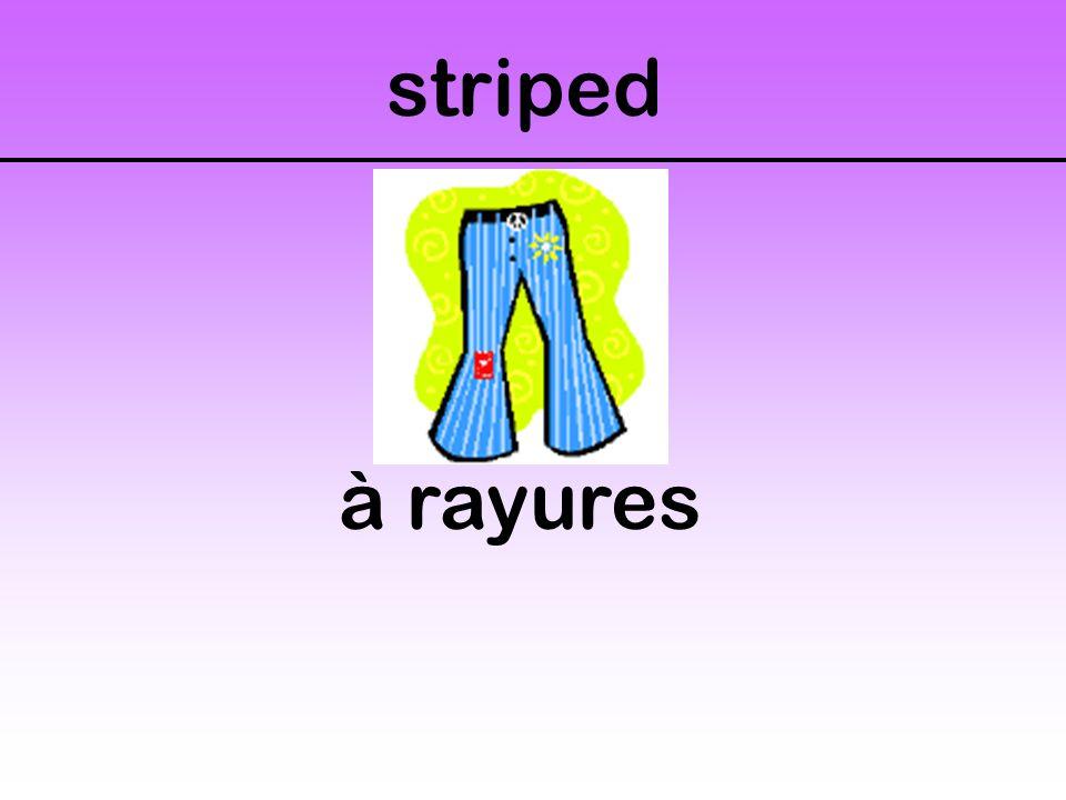 striped à rayures