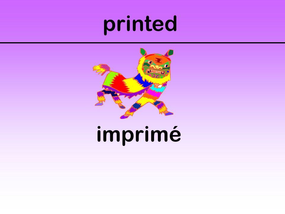 printed imprimé