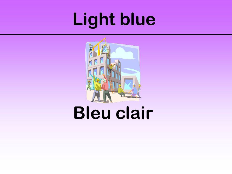 Light blue Bleu clair