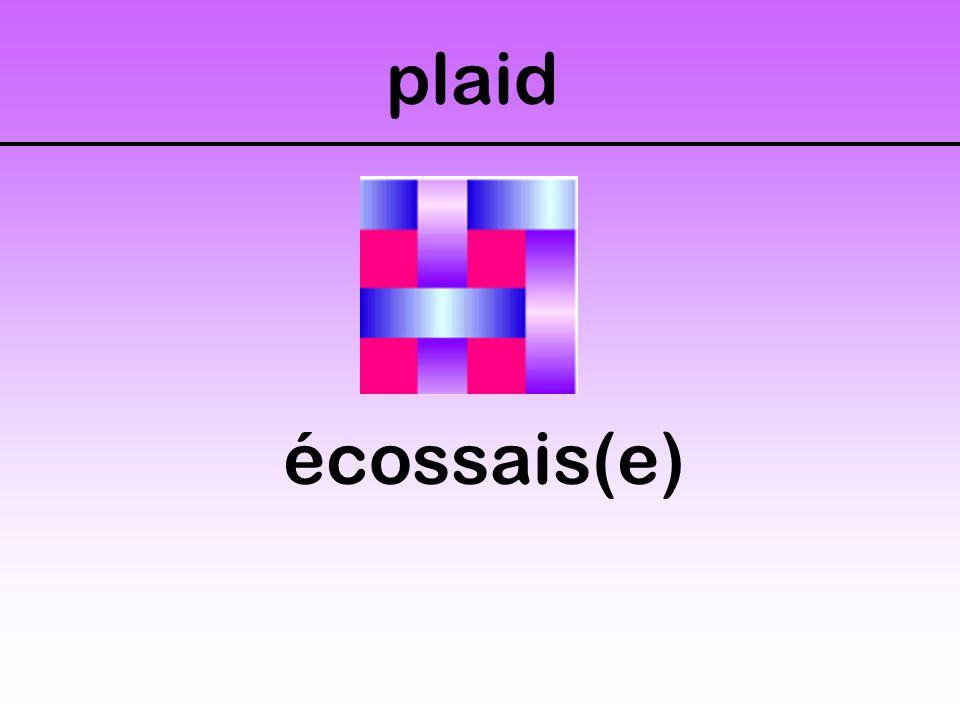 plaid écossais(e)
