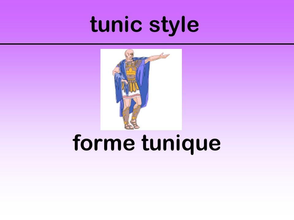tunic style forme tunique