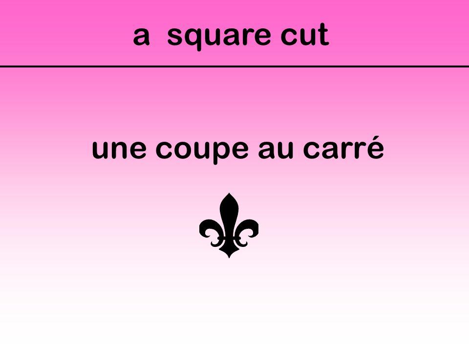 a square cut une coupe au carré