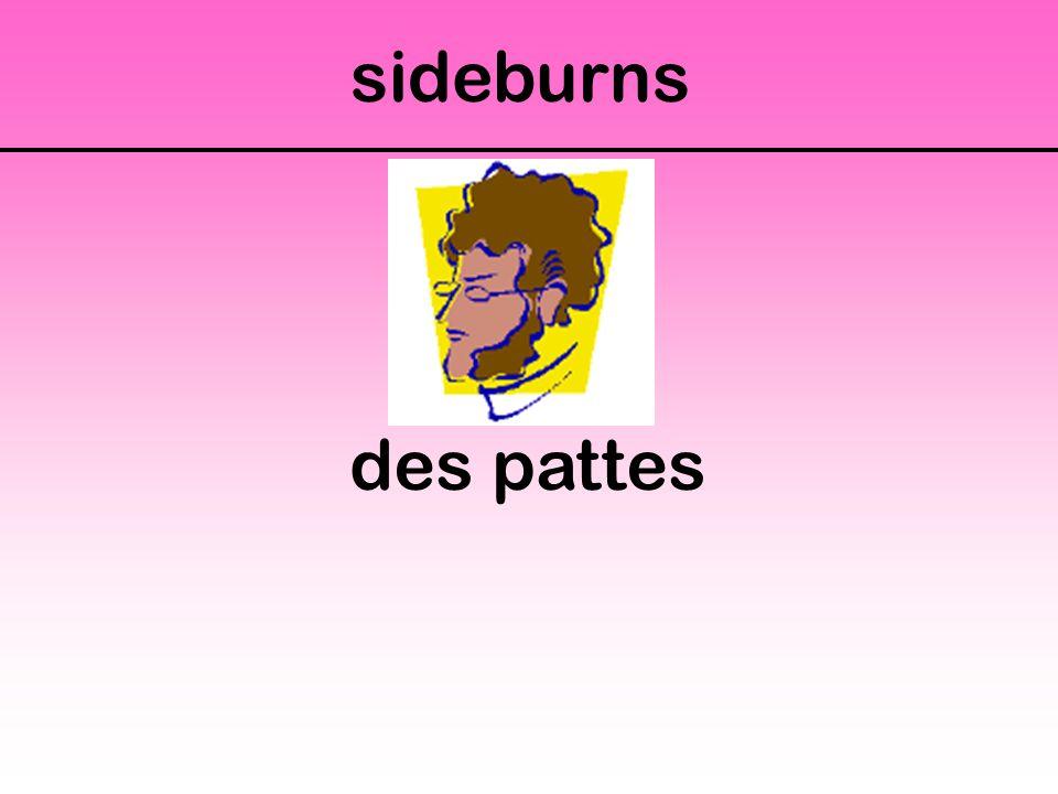 sideburns des pattes