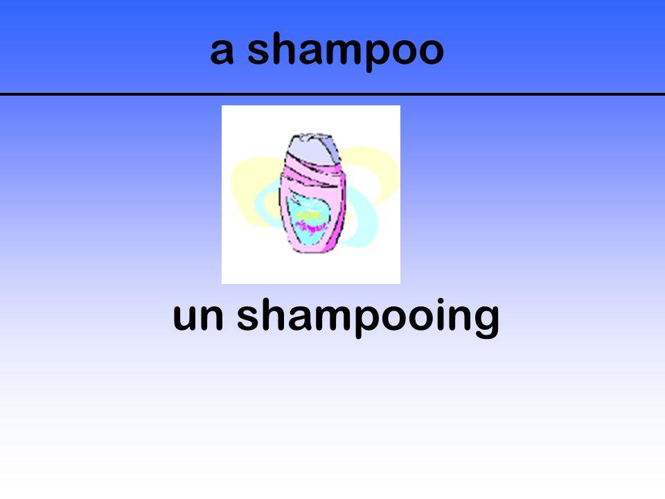 a shampoo un shampooing