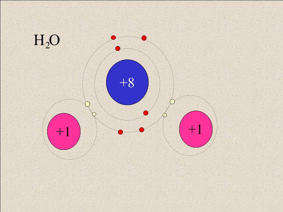 H H +8 +1 H O 2