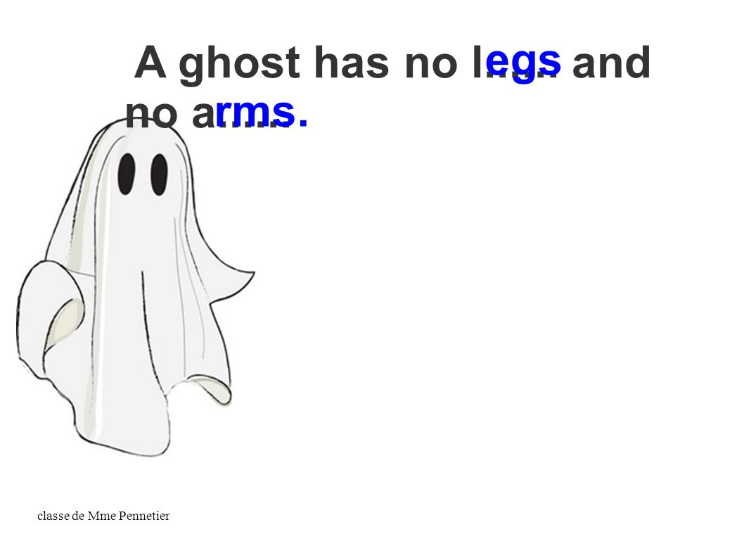 classe de Mme Pennetier A ghost has no l...... and no a...... egs rms.