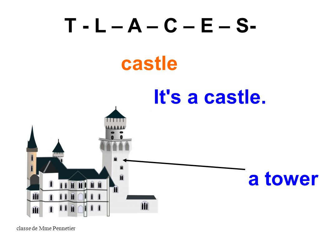 classe de Mme Pennetier It s a castle. a tower T - L – A – C – E – S- castle