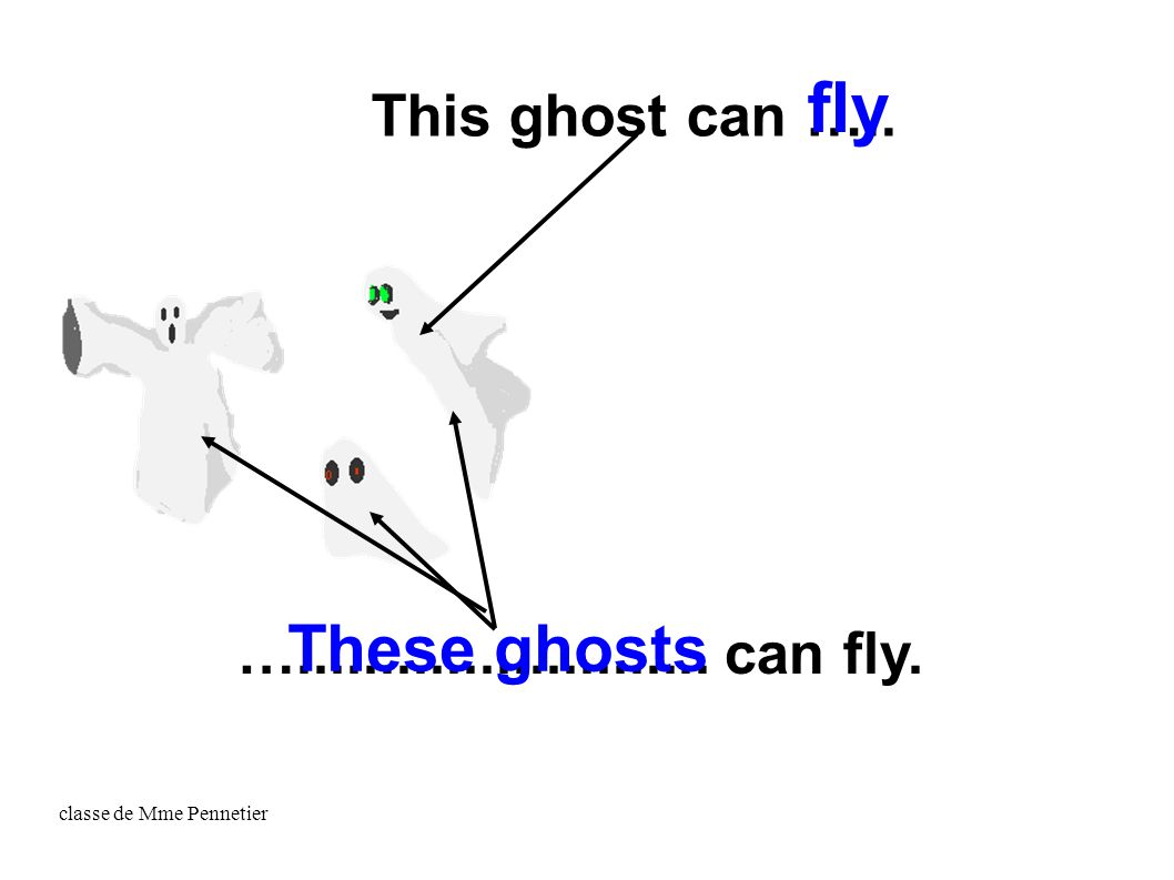 classe de Mme Pennetier This ghost can ….. …......................... can fly. fly These ghosts