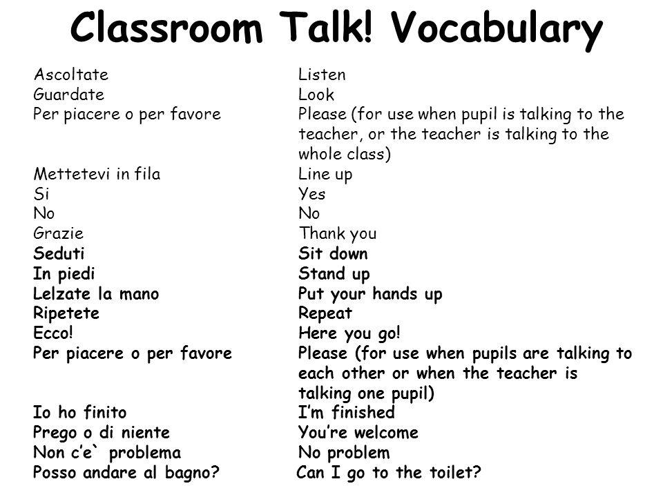 Classroom Talk.
