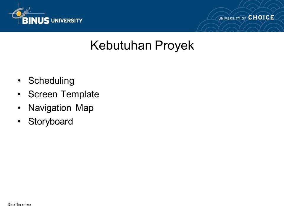Kebutuhan Proyek Scheduling Screen Template Navigation Map Storyboard