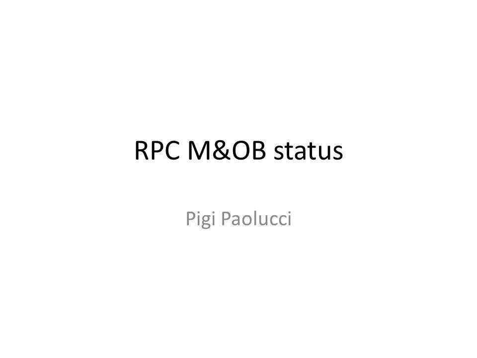 RPC M&OB status Pigi Paolucci