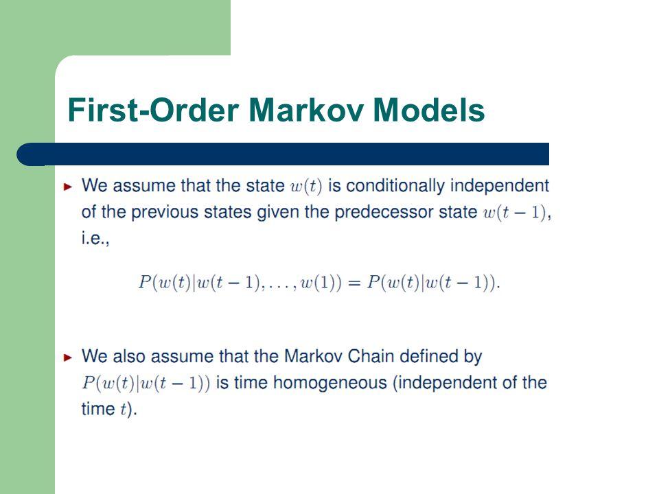 3 1 First-Order Markov Models