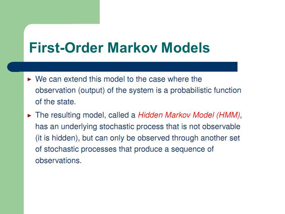 9 1 First-Order Markov Models