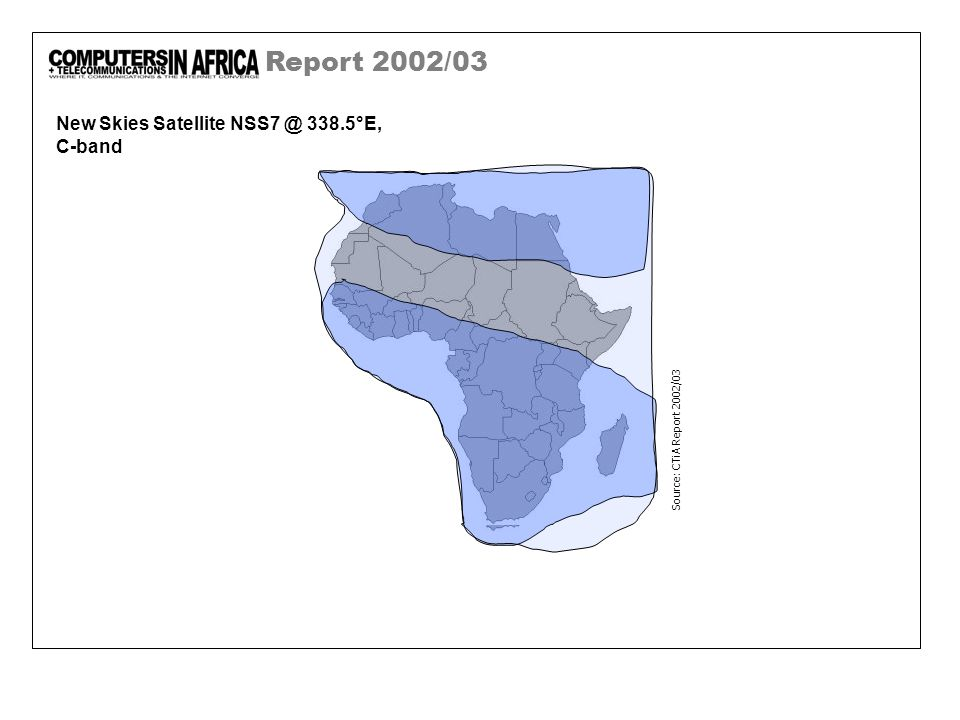 Report 2002/03 New Skies Satellite NSS7 @ 338.5°E, C-band Source: CTiA Report 2002/03