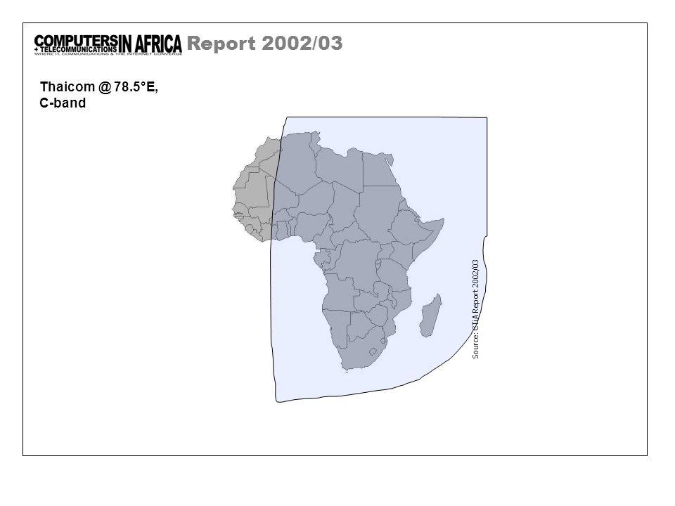 Report 2002/03 Thaicom @ 78.5°E, C-band Source: CTiA Report 2002/03