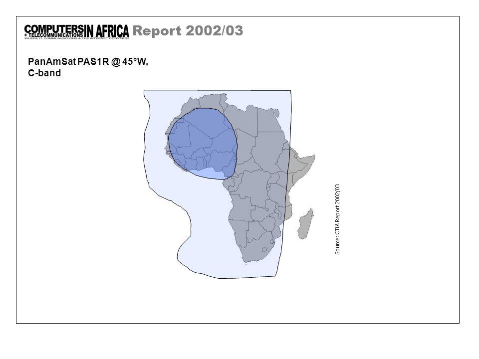 Report 2002/03 PanAmSat PAS1R @ 45°W, C-band Source: CTiA Report 2002/03