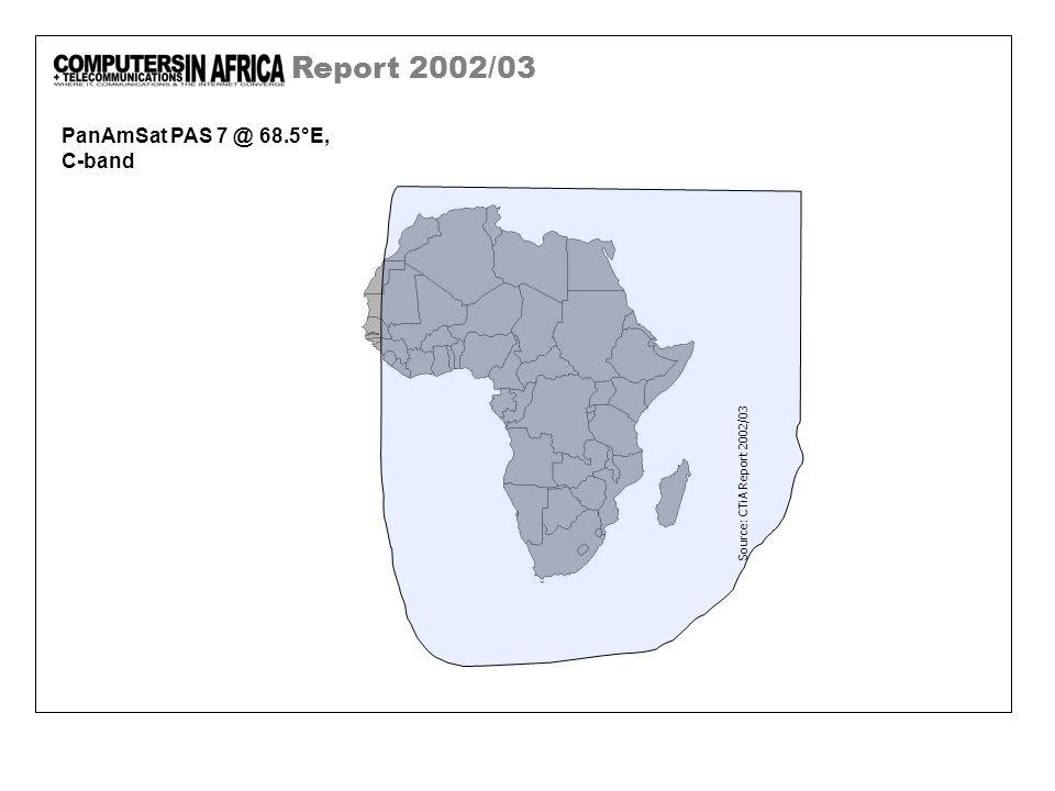 Report 2002/03 PanAmSat PAS 7 @ 68.5°E, C-band Source: CTiA Report 2002/03