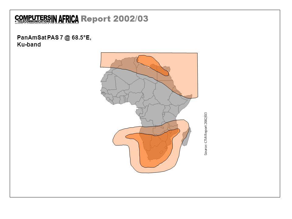 Report 2002/03 PanAmSat PAS 7 @ 68.5°E, Ku-band Source: CTiA Report 2002/03