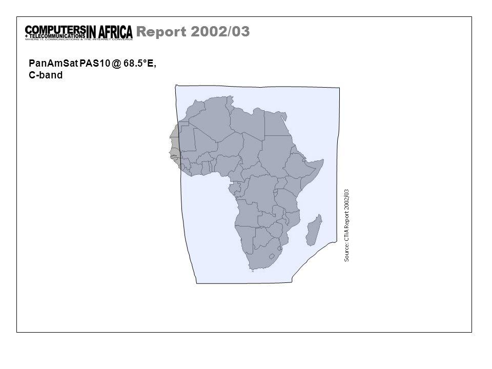 Report 2002/03 PanAmSat PAS10 @ 68.5°E, C-band Source: CTiA Report 2002/03