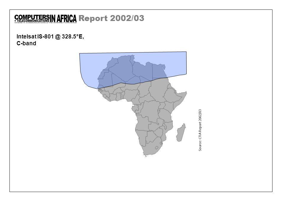 Report 2002/03 Intelsat IS-801 @ 328.5°E, C-band Source: CTiA Report 2002/03