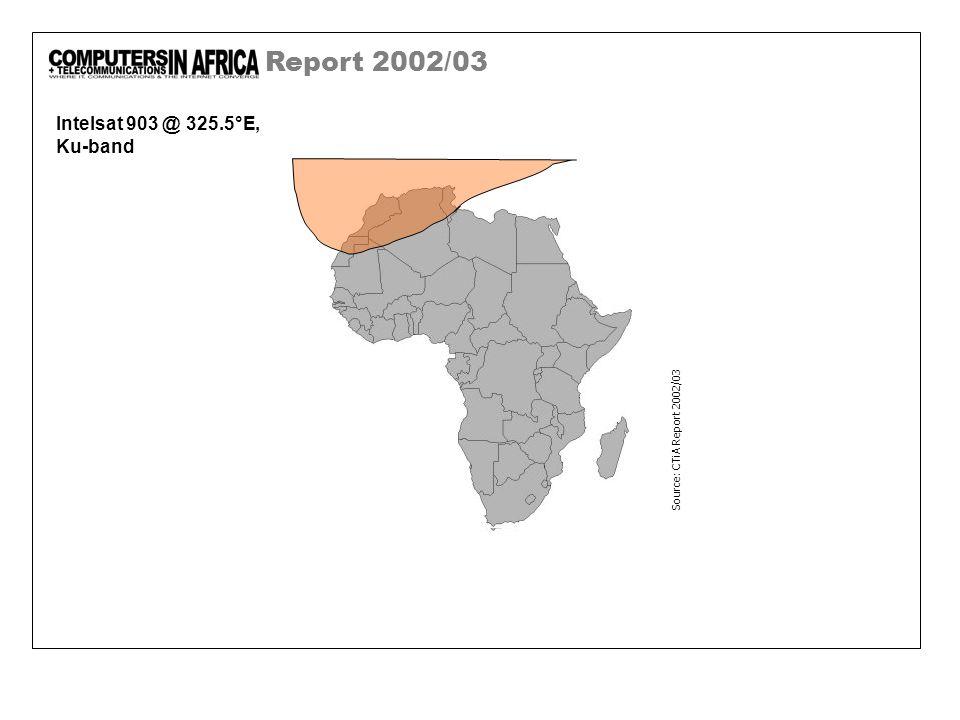 Report 2002/03 Intelsat 903 @ 325.5°E, Ku-band Source: CTiA Report 2002/03