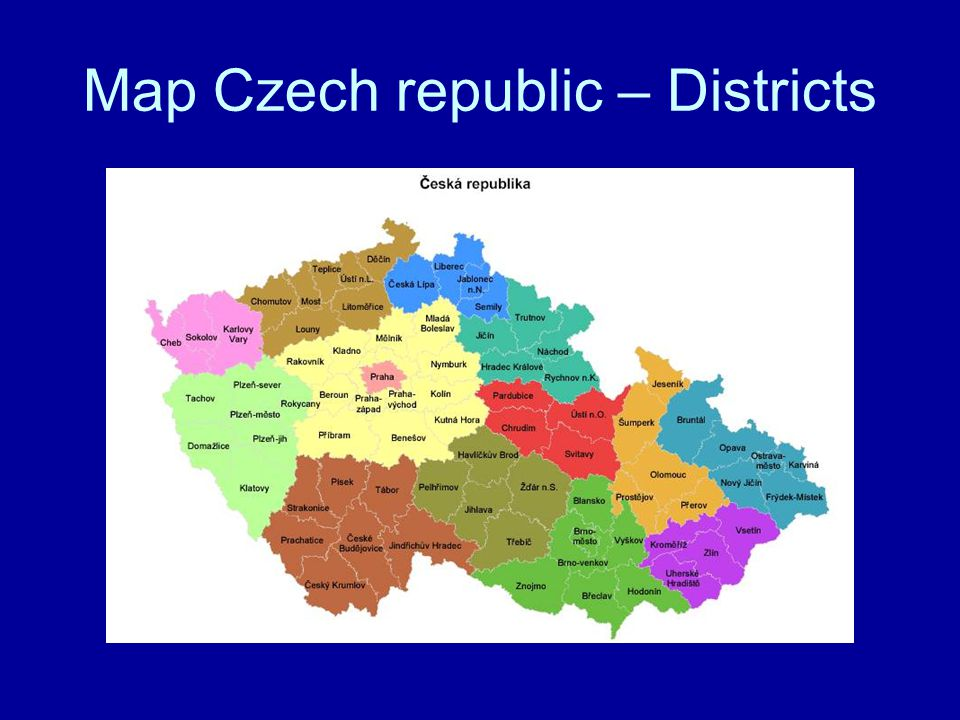 Map Czech republic – Districts