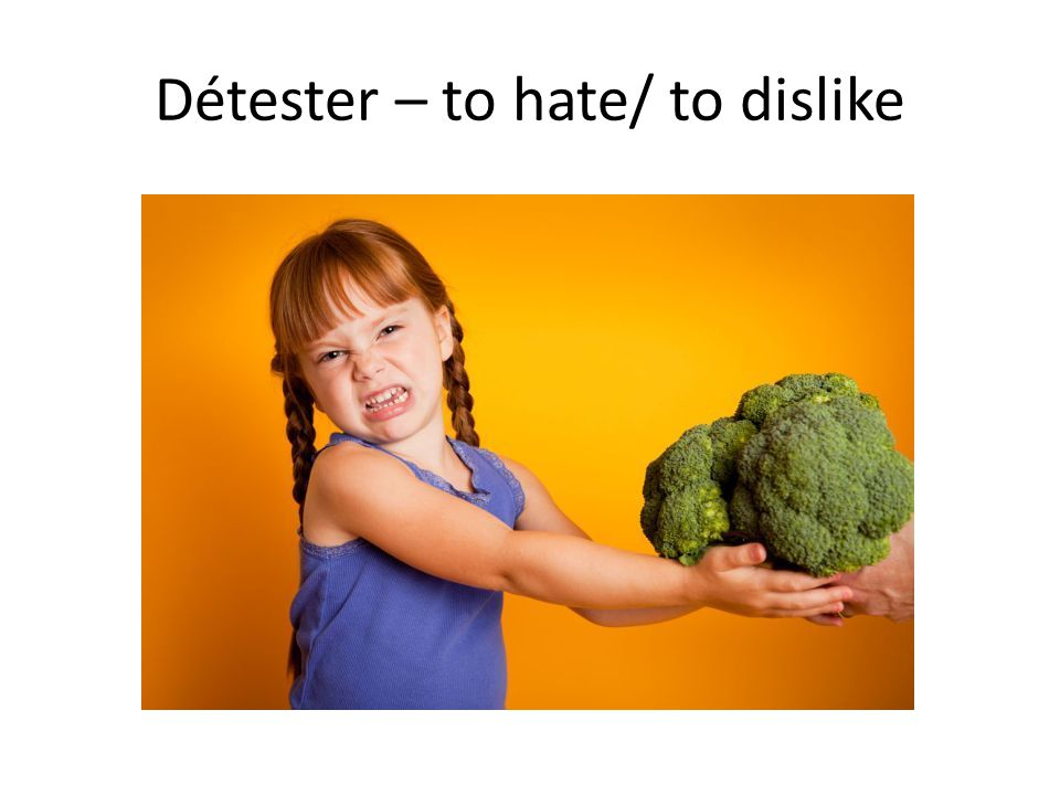 Détester – to hate/ to dislike