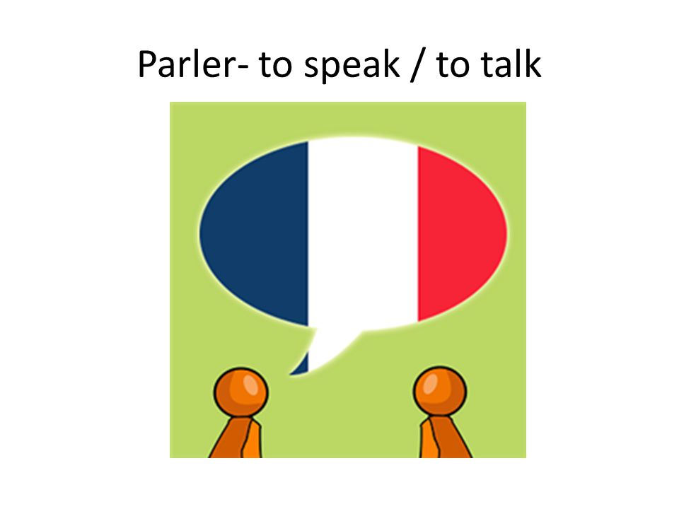 Parler- to speak / to talk
