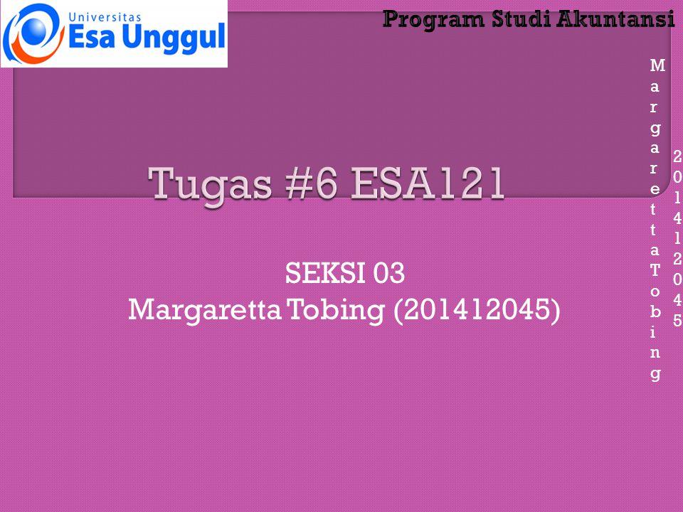 MargarettaTobingMargarettaTobing 201412045201412045 SEKSI 03 Margaretta Tobing (201412045)