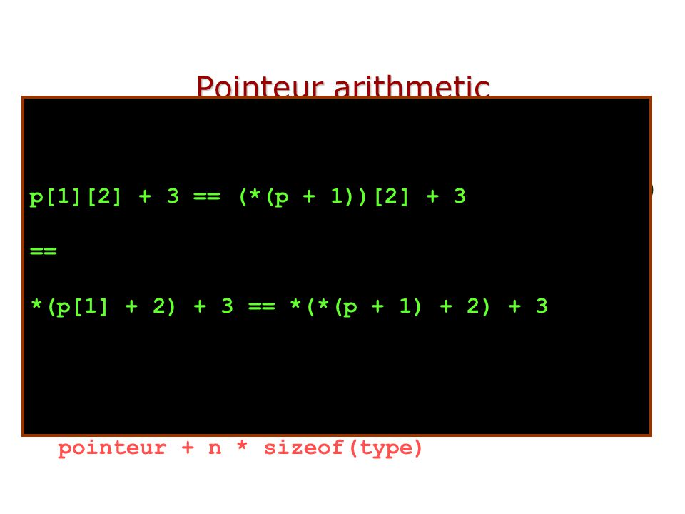 Function Pointers H You can declare a function pointer.