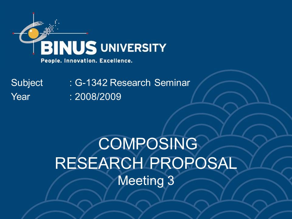 Bina Nusantara University PARTS OF RESEARCH PROPOSAL 1.Topic and Title 2.The Study 3.Review of Related Literature 4.Research Methodology