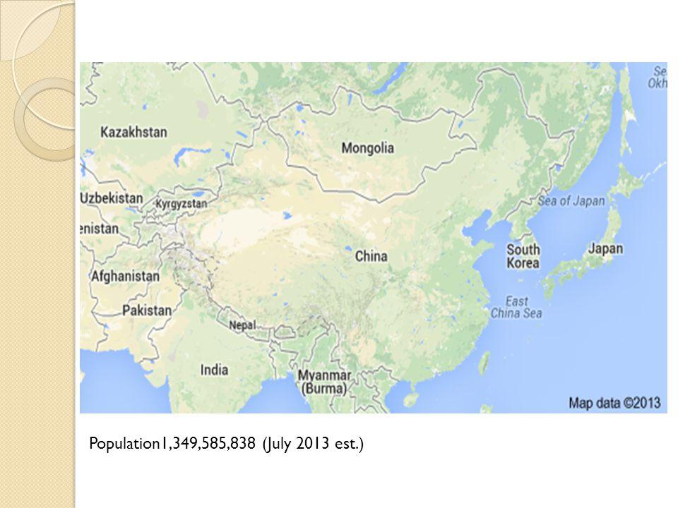 Population1,349,585,838 (July 2013 est.)