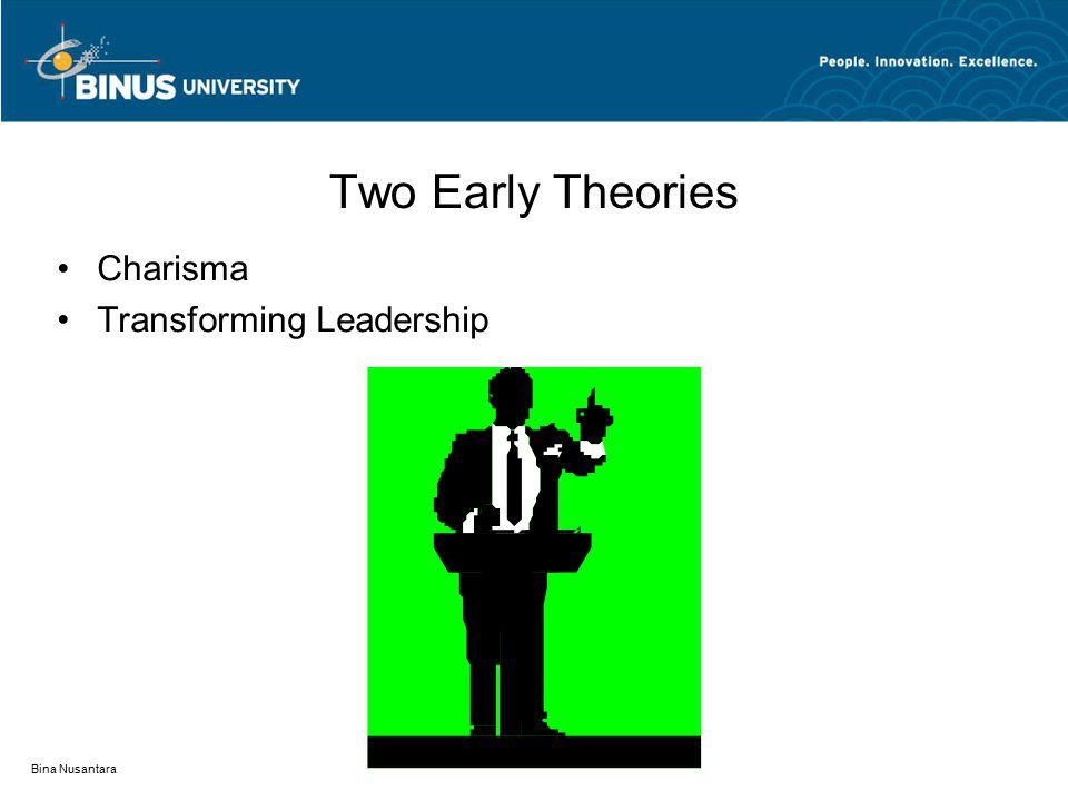 Bina Nusantara Two Early Theories Charisma Transforming Leadership