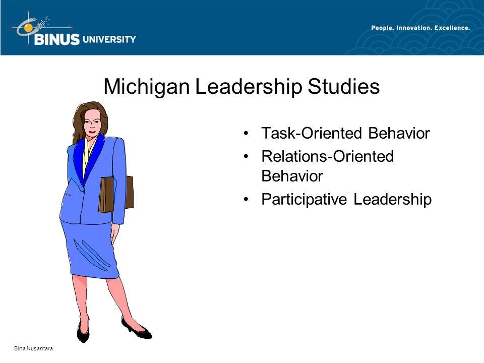 Bina Nusantara Skandinavia Leadership Studies Task Oriented People Oriented Change Oriented