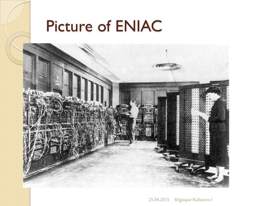 Picture of ENIAC 25.04.2015Bilgisayar Kullanımı I