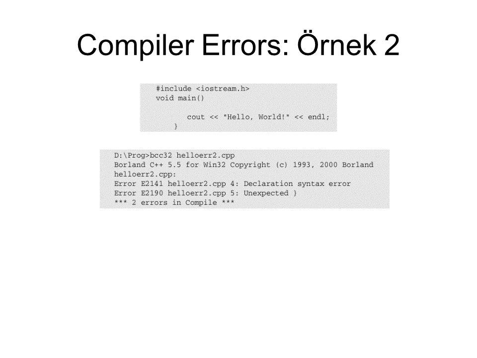 Compiler Errors: Örnek 2