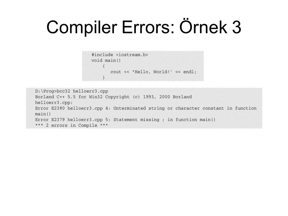 Compiler Errors: Örnek 3
