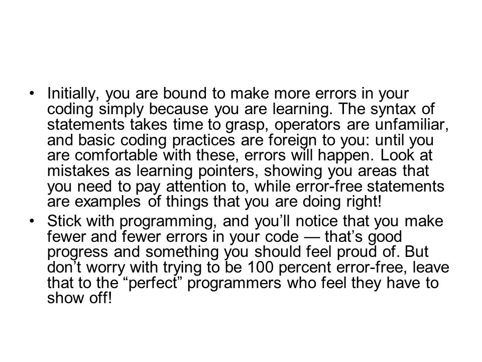 Runtime Errors: Örnek Tracing runtime errors in compiled code is tricky in that the application gives you a memory address and not much more.