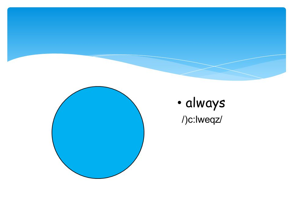 Look, listen and repeat Adverbs of frequency
