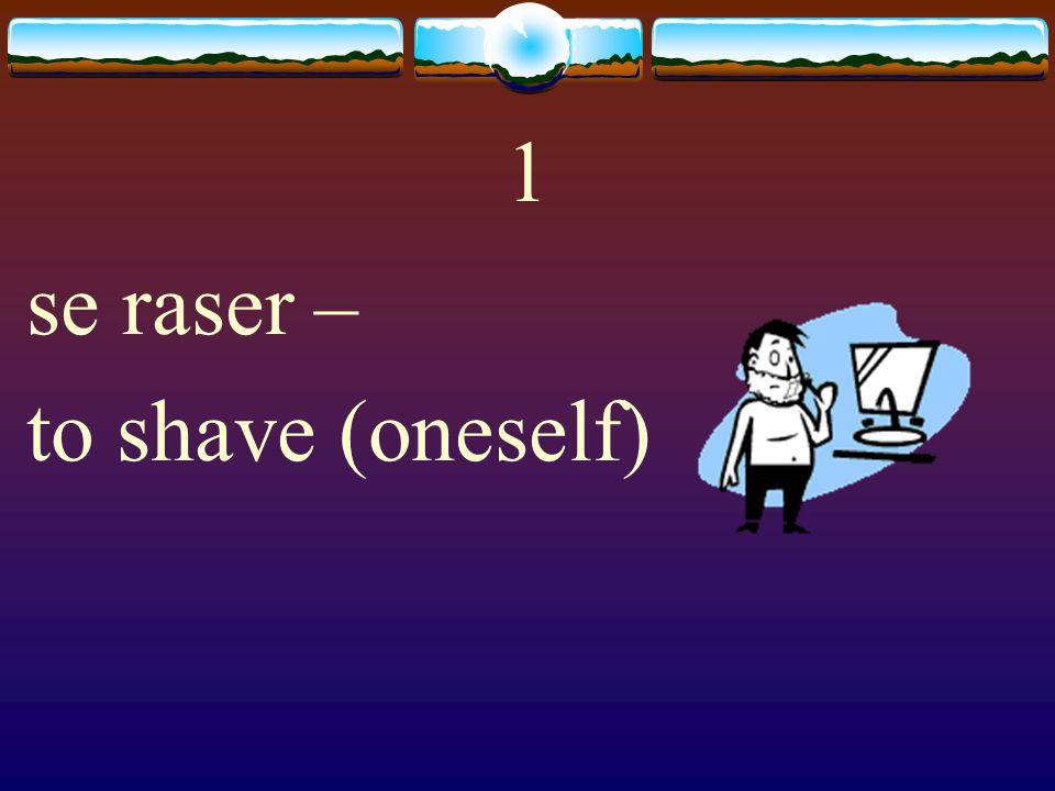 Vocabulaire Common Reflexive Verbs