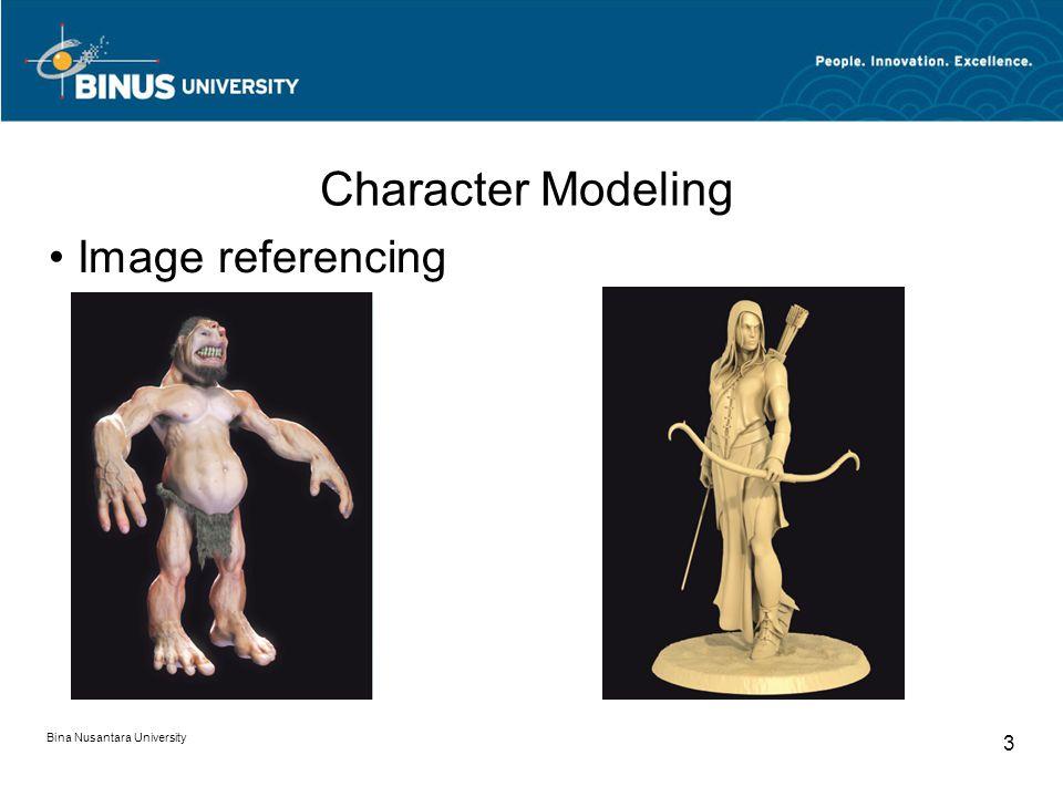Bina Nusantara University 3 Character Modeling Image referencing